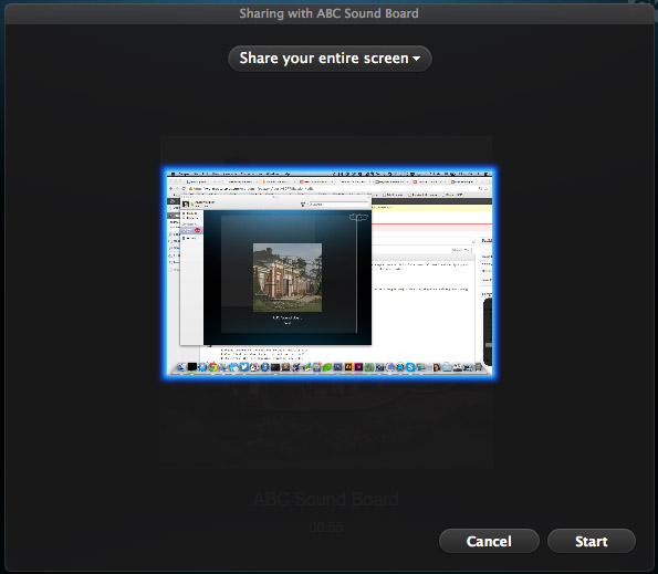 Skype - choose what to share