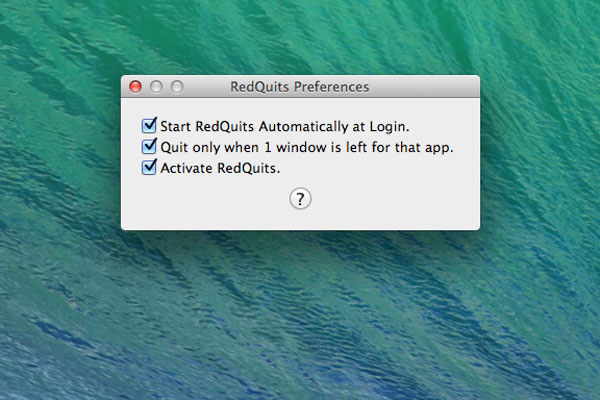 RedQuits preferences