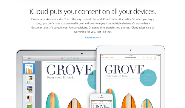 In the Apple ecosystem, iCloud is important to the document model.