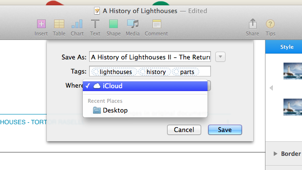 "The traditional ""save as"" option is often hidden in OS X."