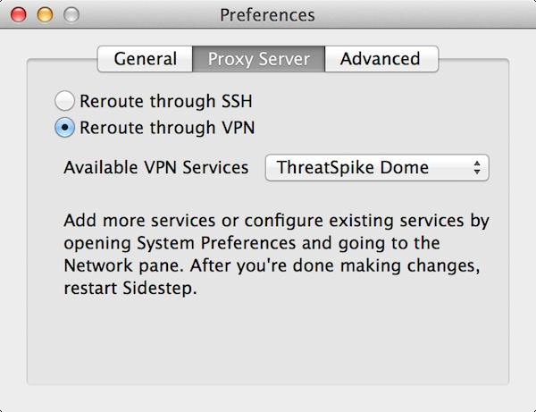 VPN and Sidestep play nice.