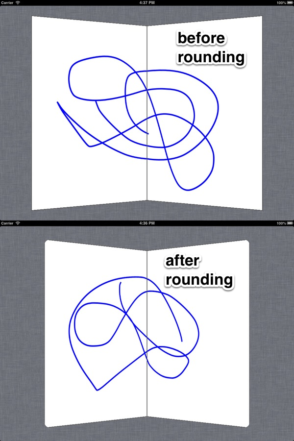 Before and after rounding