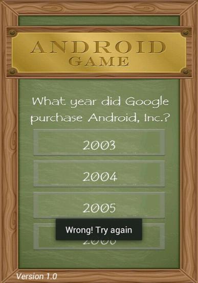 androidUI Toast