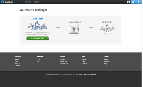 Testing with TestFlight: Welcome to TestFlight - Figure 1