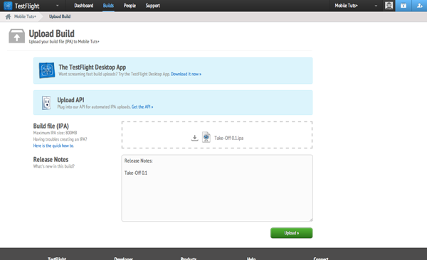 Testing with TestFlight: Upload a Build to TestFlight - Figure 12