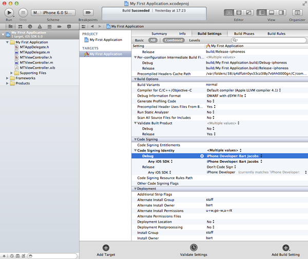 Certificates and Provisioning Profiles - Configuring the Xcode Project - Figure 24