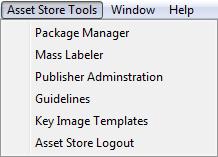 Asset Store Tools menu