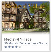 Medieval Village asset