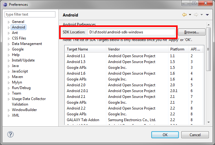 writing apps for android sdk