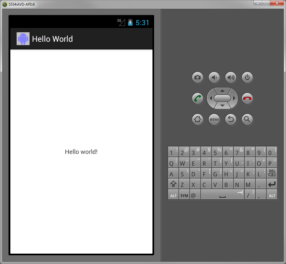 Creating android hello world applications step 6 review your simple app baditri Image collections