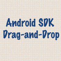 Link toAndroid sdk: implementing drag-and-drop functionality