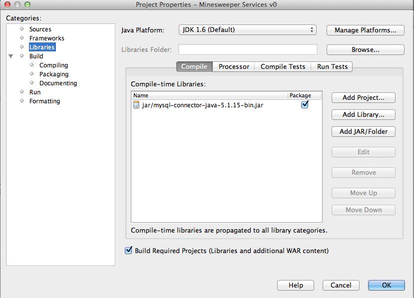 Figure 13: Add the external MySQL .jar library