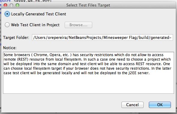 Figure 15: Test files target