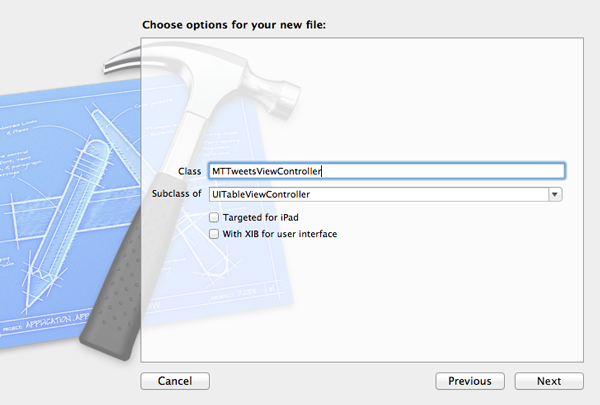New in iOS 6: UIRefreshControl: Configuring the TweetsViewController Class - Figure 6