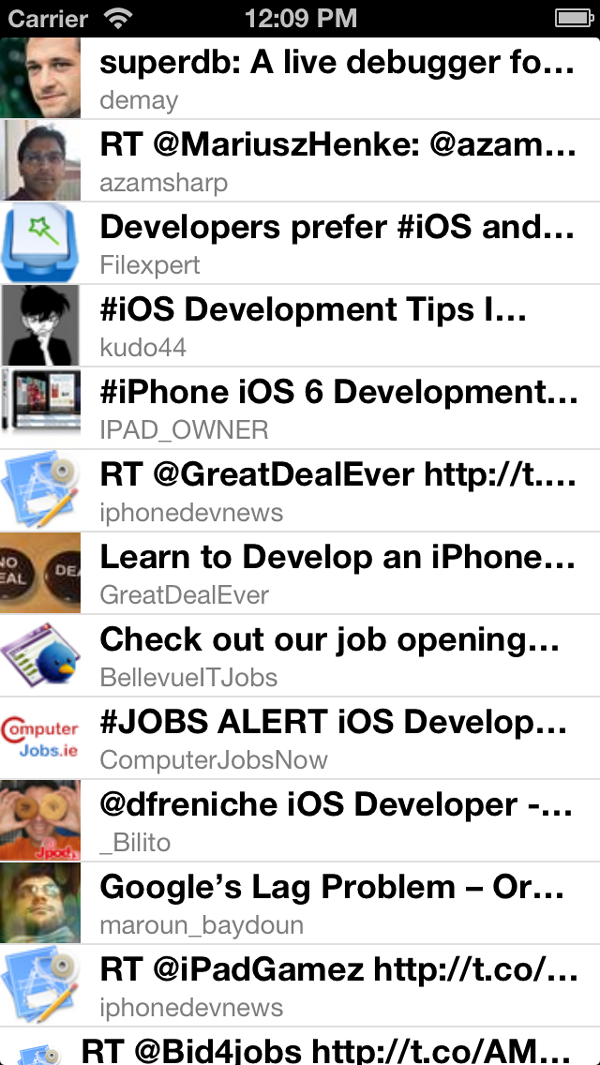 New in iOS 6: UIRefreshControl: The Example Application in Action - Figure 7