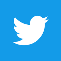 Twitter bird white on blue