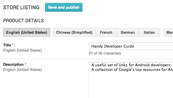 Listing Languages