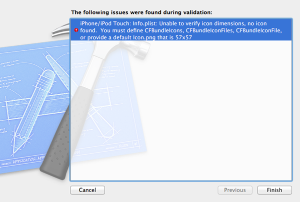 How To Submit an iOS App to the App Store - An Error is Shown if Validation Fails