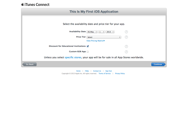 How To Submit an iOS App to the App Store - Specifying Price and Availability