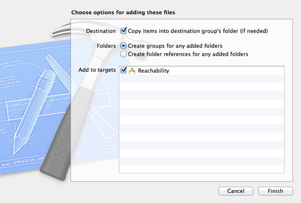 iOS Quick Tip: Detecting Network Changes with Reachability - Make Sure to Copy the Class Files into Your Project