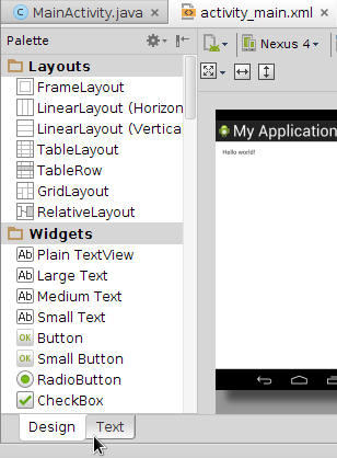 Android Studio Design