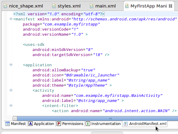 Android Sdk Project Manifest
