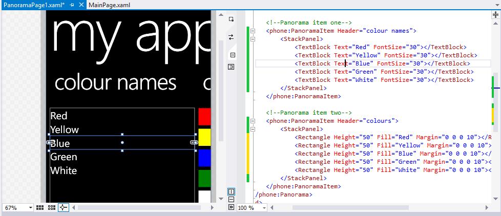 Windows Phone 8: Pivot And Panorama