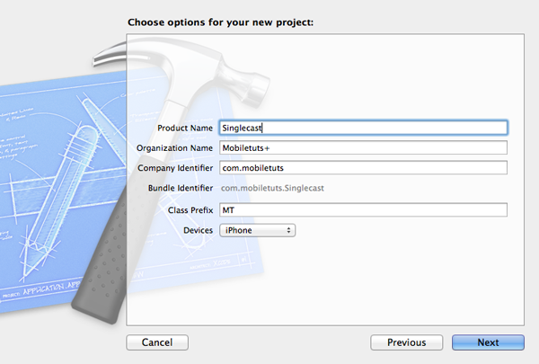 Configure the project in Xcode.