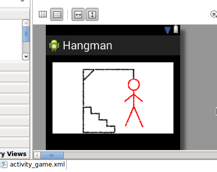 Android Hangman Game Layout
