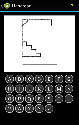 Android Hangman Game Start