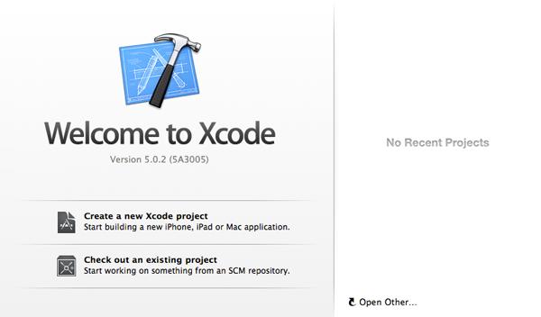 iOS Development Environment - Xcode Welcome Window