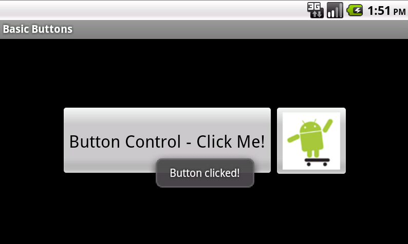 Handling a Button control click with a Toast