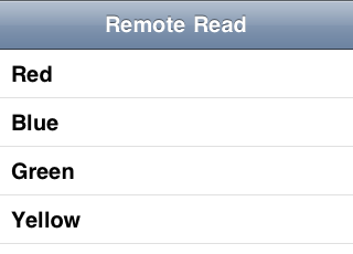 Remote Database Read After