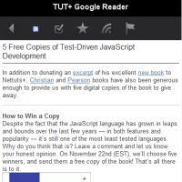 Preview for Building a Mobile Web Application with the Google Reader API