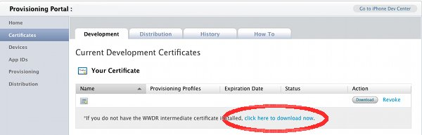 Apple iPhone WWDR Certificate