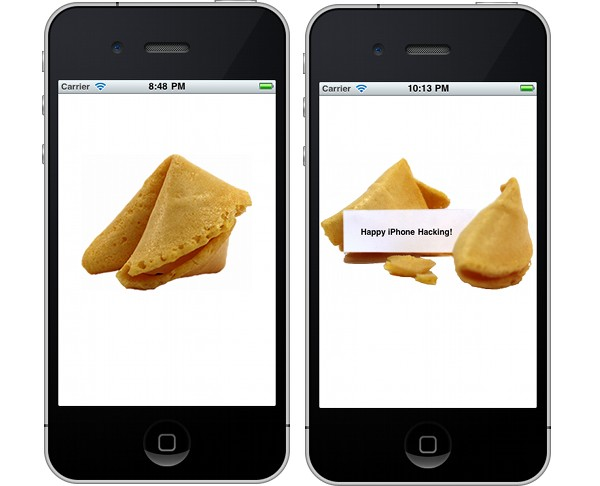 Final Fortune Cookie In iPhone Simulator