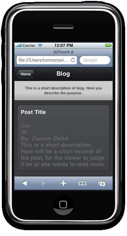 Unstyled Blog Excerpt