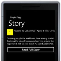 Wp7 silverlight tutorial