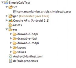 Junit Testing SimpleCalcTest Project Files