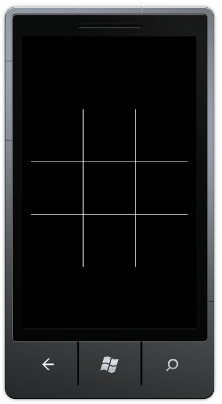 The grid displays on the phone's screen.