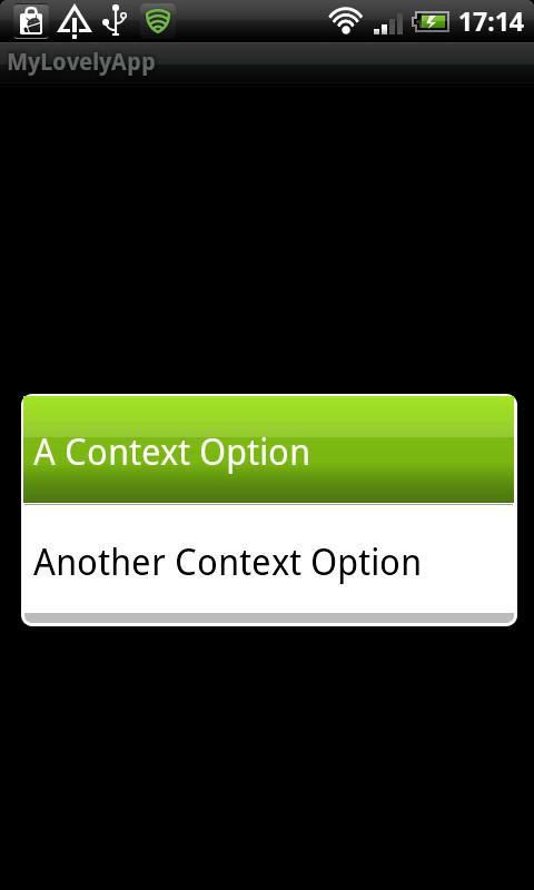 Choosing an Item From the Context Menu