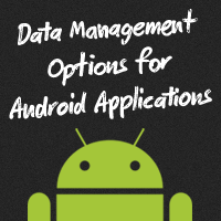 Link toData management options for android applications