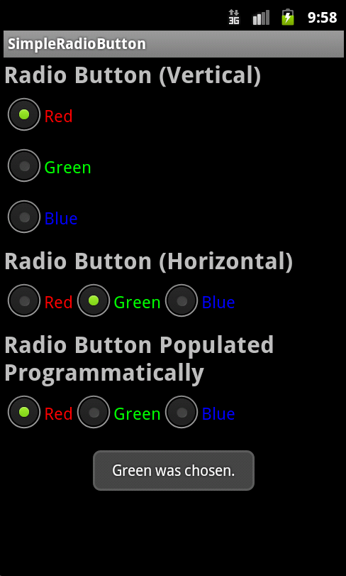 Various Ways to Use Radio Controls