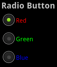 A Vertical RadioGroup Control with Three RadioButton Controls