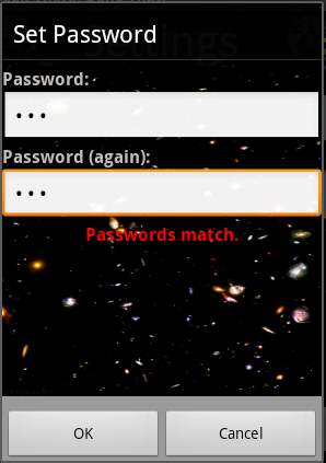A custom password Dialog