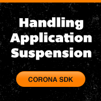 Coronasdk handling suspension