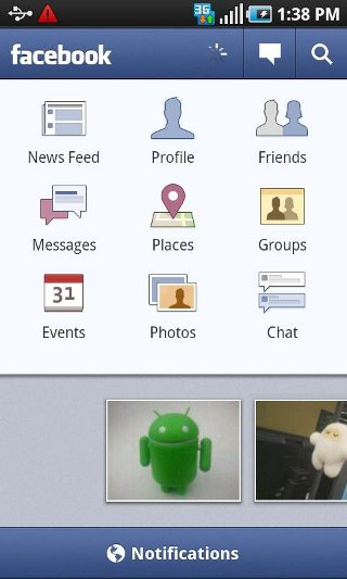Android Facebook UI