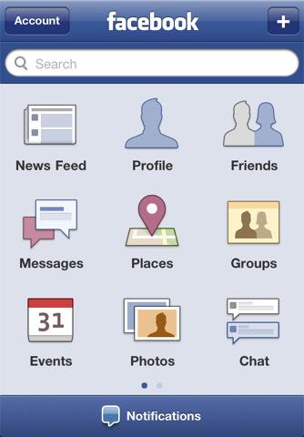 iOS Facebook UI