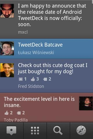 Android TweetDeck UI