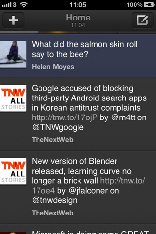 iOS TweetDeck UI
